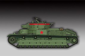 Trumpeter Soviet T28 Medium Tank with Welded Turret Plastic Model Military Vehicle Kit 1/72 #7150