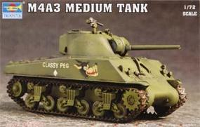Trumpeter US M4A3 Tank Plastic Model Military Vehicle 1/72 Scale #7224