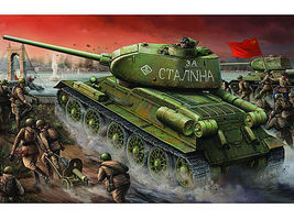 Trumpeter Russian T34/85 Mod 1944 Factory Nr.174 Early Tank Plastic Model Military Vehicle 1/16 #904