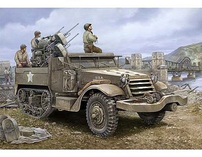 Trumpeter M16 Halftrack with Multiple-Gun -- Plastic Model Military Vehicle -- 1/16 Scale -- #911