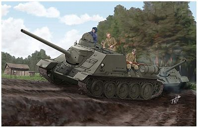 Trumpeter Soviet SU-100 Tank Destroyer Plastic Model Military Vehicle 1/16 Scale #915