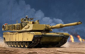 Trumpeter US M1A2 SEP Main Battle Tank Plastic Model Military Vehicle Kit 1/16 Scale #927