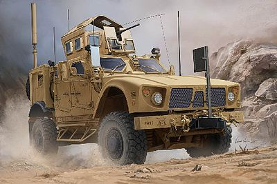 Trumpeter US M-ATV MRAP (Mine Resistant) Vehicle Plastic Model Military Vehicle Kit 1/16 Scale #930