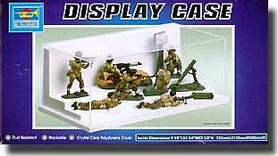 Trumpeter Step Showcase for 1/64 Autos, 1/32 Figures & 1/87 Tanks -- Plastic Model Display Case -- #9810