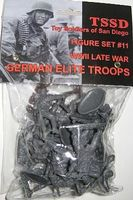 Toy-Soldiers WWII Late War German Elite Troops Figure Plastic Model Military Figure 1/32 Scale #11