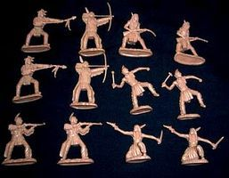 Toy-Soldiers Plains Indian Warriors Figure Playset #2 (12) Plastic Model Indian Figure 1/32 Scale #14