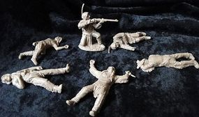 Toy-Soldiers Plains Indians w/Casualties Dismounted Playset (12) Plastic Model Military Figure 1/32 #18