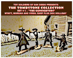 Toy-Soldiers Tombstone Set 1 The Gunfighters Figure Playset (4) Plastic Model Military Figure 1/32 #21