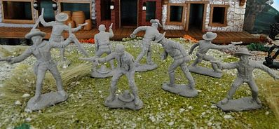 ToySoldiers Tombstone Set 2 The Cowboys Figure Playset (8) Plastic Model Military Figure 1/32 #23