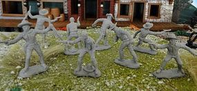 Toy-Soldiers Tombstone Set 2 The Cowboys Figure Playset (8) Plastic Model Military Figure 1/32 #23