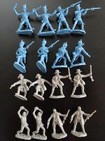 Toy-Soldiers The Alamo Combat Texan & Mexican Playset (16) Plastic Model Military Figure 1/32 #25