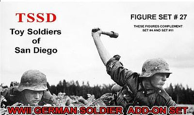 Toy Soldiers of San Diego 1/32 WWII German Soldiers Add-On Figure Playset (8)