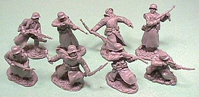 ToySoldiers WWII German Soldiers in Long Coats Figure Playset Plastic Model Military Figure 1/32 #4