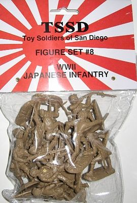 ToySoldiers WWII Japanese Infantry Figure Playset (16) Plastic Model Military Figure 1/32 Scale #8