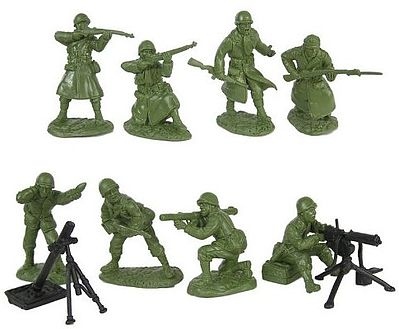 Toy Soldiers of San Diego 1/32 WWII US Infantry Fire Support Figure Playset (16)