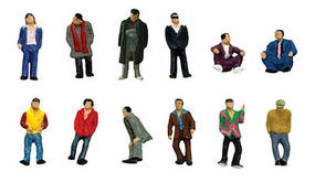 Tomy Pedestrians (12) N Scale Model Railroad Figure #218326