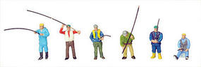 Tomy Fishing Port Workers (12) N Scale Model Railroad Figure #234937