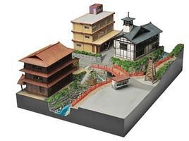 Tomy Hot Springs Resort Set Kit N Scale Model Railroad Building #253143