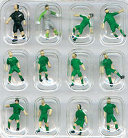 Tomy Soccer Team B (Green) N Scale Model Railroad Figure #255062