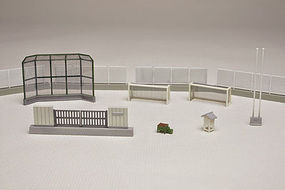 Tomy Schoolyard Detail Set N Scale Model Railroad Building Accessory #255093