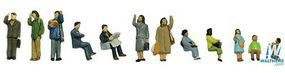 Tomy Passengers (12) N Scale Model Railroad Figure #265467