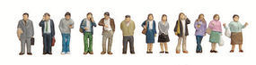 Tomy Standing People (12) N Scale Model Railroad Figure #265481