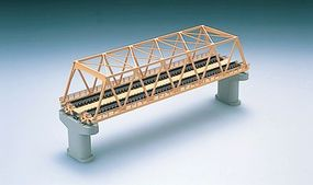 Tomy Through Truss Bridge w/2 Piers (Double - Fine Track) Cream N Scale Model Railroad Bridge #3053