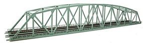 Tomy Curved Chord Through Truss Bridge w/2 Piers (Fine Double Track) N Scale Model Railroad #3222