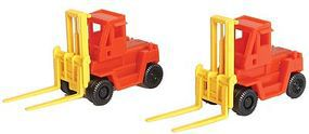 Tomy Forklift 2 Pack (Assembled) N Scale Model Railroad Vehicle #3508