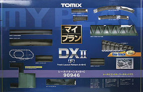 Tomy DX II Over-Under w/Siding Track Set N Scale Model Railroad #90946