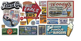 T2-Decals Food Signs #8 N-Scale