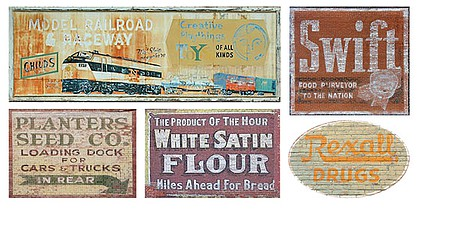 HO Scale Ghost Sign Decals #37