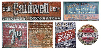 T2-Decals Ghost Signs #22 - N-Scale