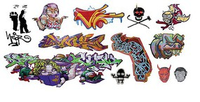 T2-Decals Graffiti #25 N-Scale