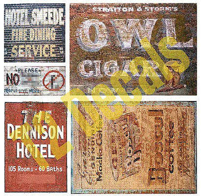 T2-Decals Ghost Signs #1 - O-Scale