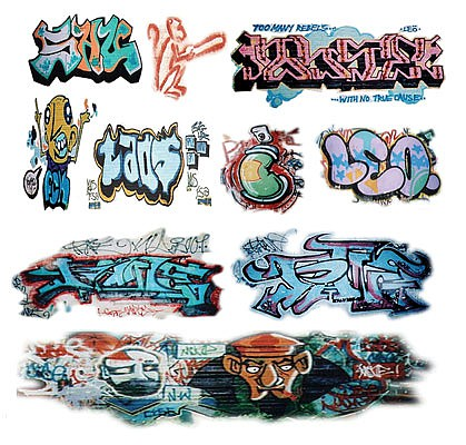 T2-Decals Graffiti #3 - O-Scale