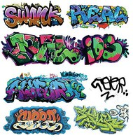 T2-Decals Graffiti #10 O-Scale