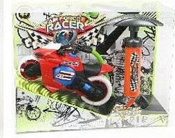 Toysmith Pump Air Force Racer- Motorcycle w/Air Pump (Plastic)