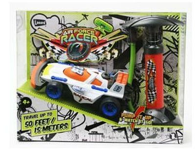 Toysmith Pump Air Force Racer- Mag Speed Race Car #83 with Air Pump (Plastic) -- Toy Car -- #1563c
