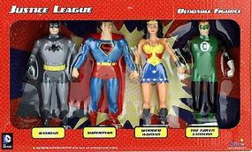 Toysmith Justice League 5 Bendable Super Heroes Toy Figure Set #3900