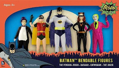 Toysmith Batman Series 5'' Bendable Super Heroes -- Toy Figure Set -- #3916