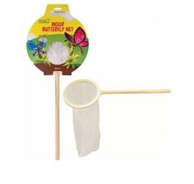 Toysmith Wood Butterfly Net -- Interactive Toy -- #4041