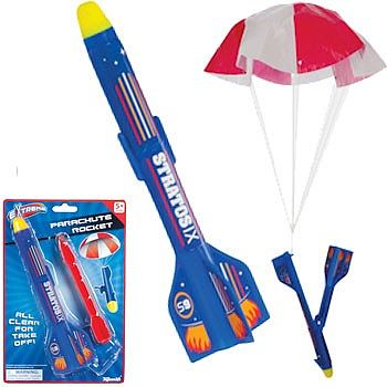 Toysmith Parachute Rocket 8-1/2'' (Cd) -- Flying Toy -- #6157