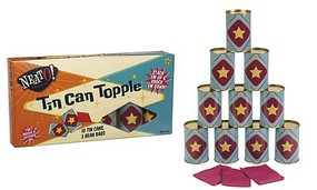 Toysmith Tin Can Topple Game w/10 Cans & 3 Beanbags