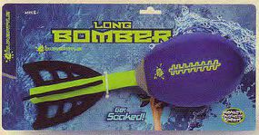 Toysmith Aqua Battle Long Bomber Water Soaker Football Water Toy #68609