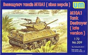 Unimodels M10A1 Late Tank Destroyer Plastic Model Tank Kit 1/72 Scale #209