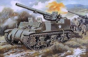 Unimodels M12 155mm Us Self-Propelled Gun Plastic Model Tank Kit 1/72 Scale #211