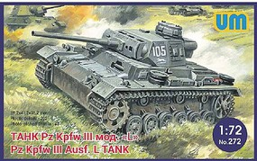 Unimodels 1/72 PzKpfw III Ausf L German Tank w/Protective Screen
