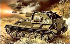 Unimodels SU76M WWII Russian Tank w/Self-Propelled Gun Plastic Model Tank Kit 1/72 Scale #308
