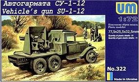 Unimodels SU1-12 76mm Gun on GAZ-AAA Truck Chassis Plastic Model Military Truck Kit 1/72 Scale #322